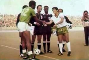 Algeria v Nigeria in 1978; courtesy of the MC Alger website.