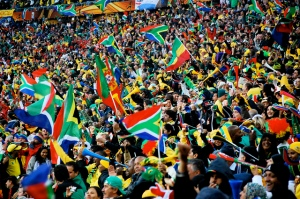 Avid fans amassed at the 2010 World Cup in South Africa. Image: Celso Flores