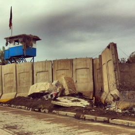 Barricades around the Republican Palace, Baghdad, in 2012.