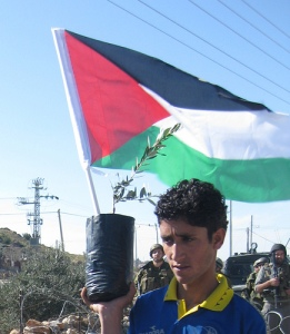 Al Masara demonstrator. By: ISM Palestine