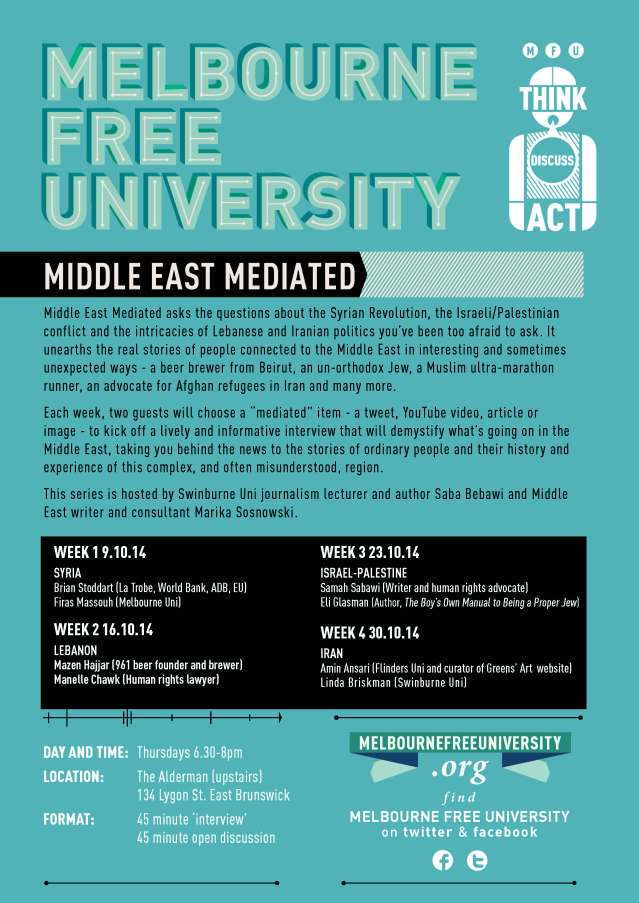 MFU POSTER 2014 Oct Middle East Mediated