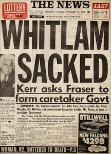 Whitlam sacked