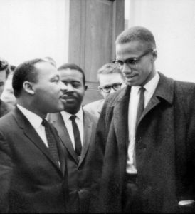 Malcolm X and MLK's only meeting. By: Marion Trikosko.