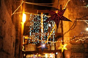 Jerusalem lights up for Ramadan. By: Guillaume Paumier.