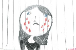 A drawing by a child in immigration detention. C/o Australian Human Rights Commission.