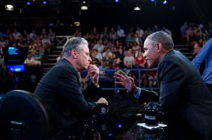 US President Barack Obama appeared seven times on The Daily Show with Jon Stewart. By: Pete Souza
