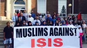 Muslim Americans gather in Dearborn to condemn ISIS. Image: Natasha Dado.