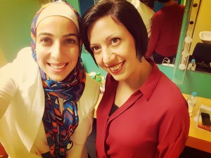 """Sara caught up with Rafeef Ziadah backstage at her Sydney performance of """"We Teach Life""""."""